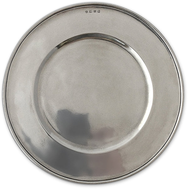 Convivio Charger - Solid Pewter