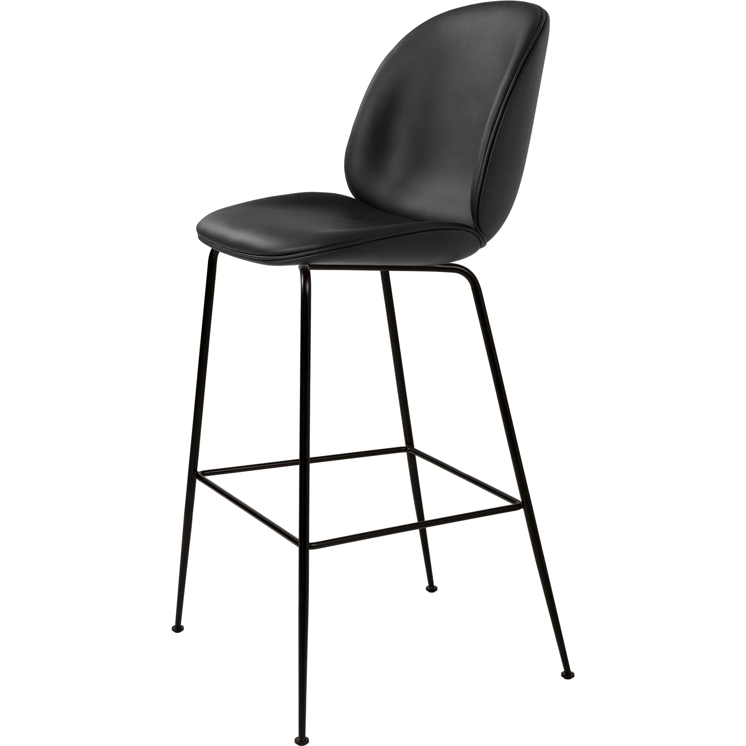 Beetle Bar/Counter Chair - Leather Upholstery - Kelato Beige SIK10419 / Matching Chair Upholstery / Black
