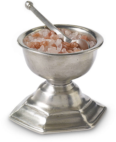Footed Salt Cellar With Spoon