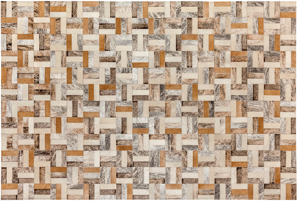 Holiday Cowhide Rug - Light
