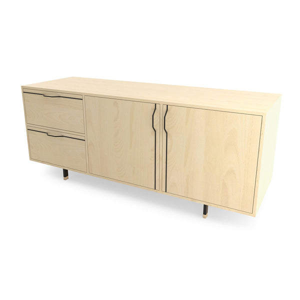 Chapman Small Credenza Storage Unit - Maple