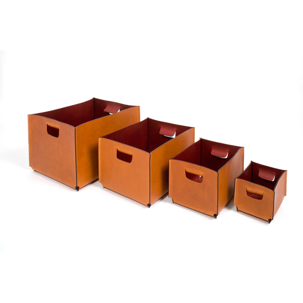 Organizer Basket - 2 Sides Full Grain Leather