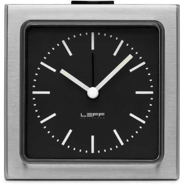Block Steel Clock - Black Index