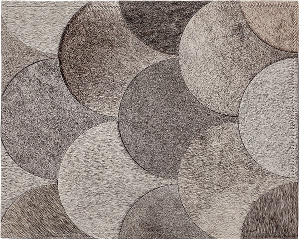 Amy Cowhide Rug - Grey