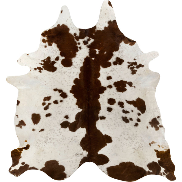 Cowhide Rug - Brown/White Special