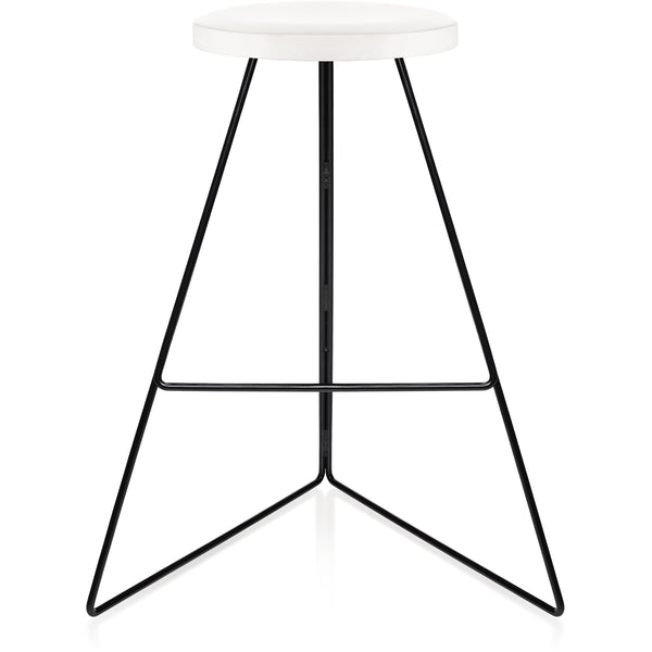 The Coleman Stool - White Marble