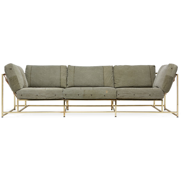 Inheritance Sofa - Military Canvas