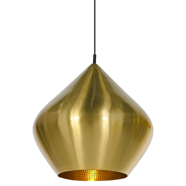 Beat Stout Pendant - Brass