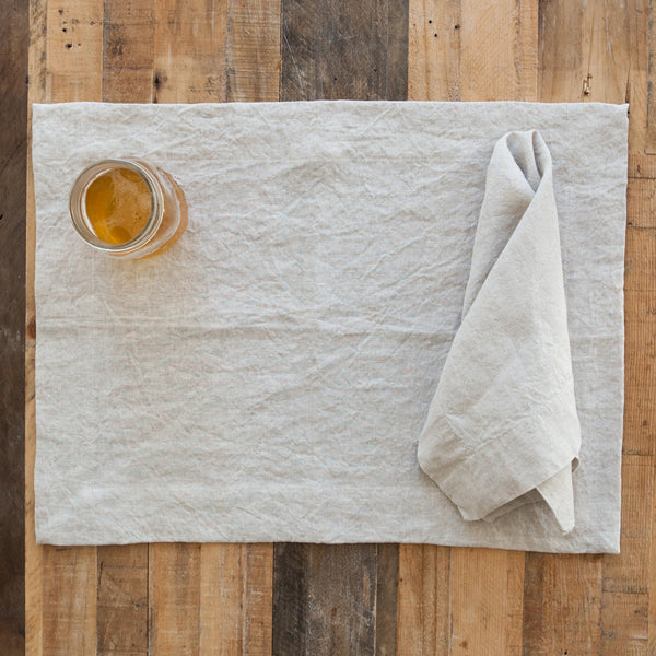 Natural Undyed Linen Napkin (Set of Four)