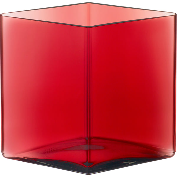 Ruutu Vase Small - Cranberry