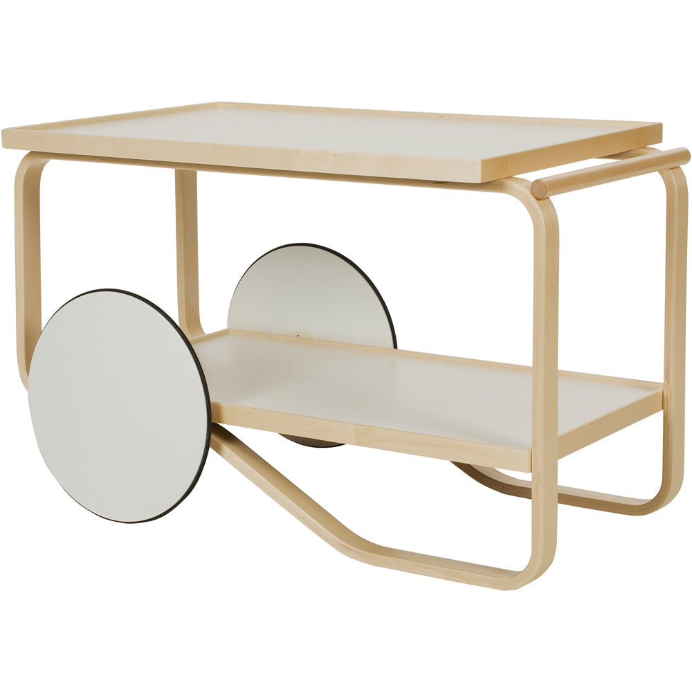 Artek Tea Trolley 901 White Laminate Shelves