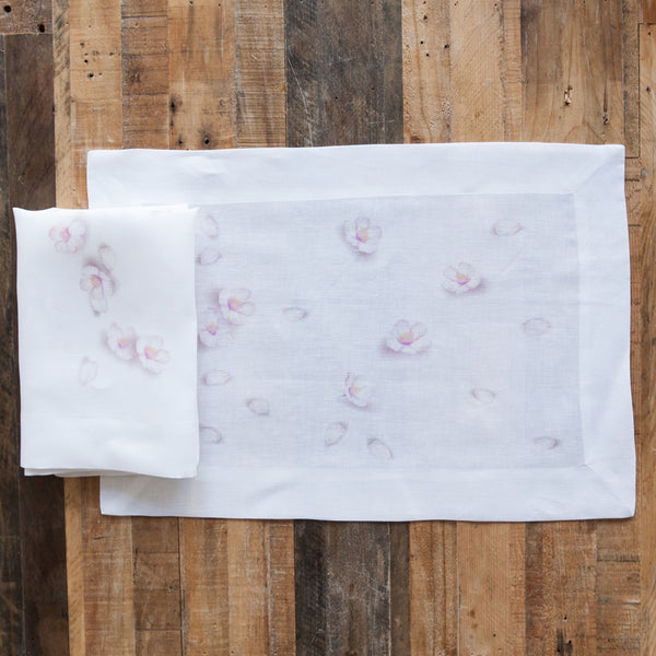 Blossom Print Linen Napkin (Set of Four)