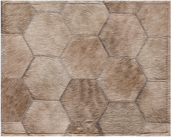 Bennet Cowhide Rug - Champagne
