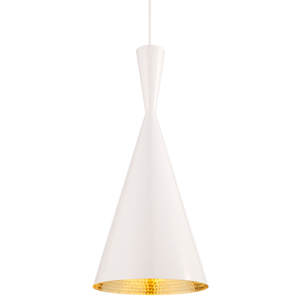 Beat Light Tall Pendant - White