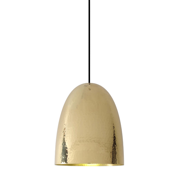 Stanley 3 Brass Pendant - Hammered Finish