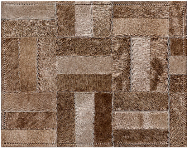 Holiday Cowhide Rug - Champagne