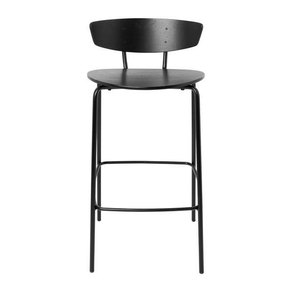 Herman Bar Chair Low Black