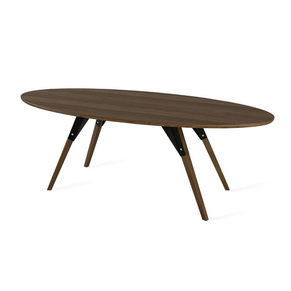 Clarke Thin Oval Coffee Table - Walnut