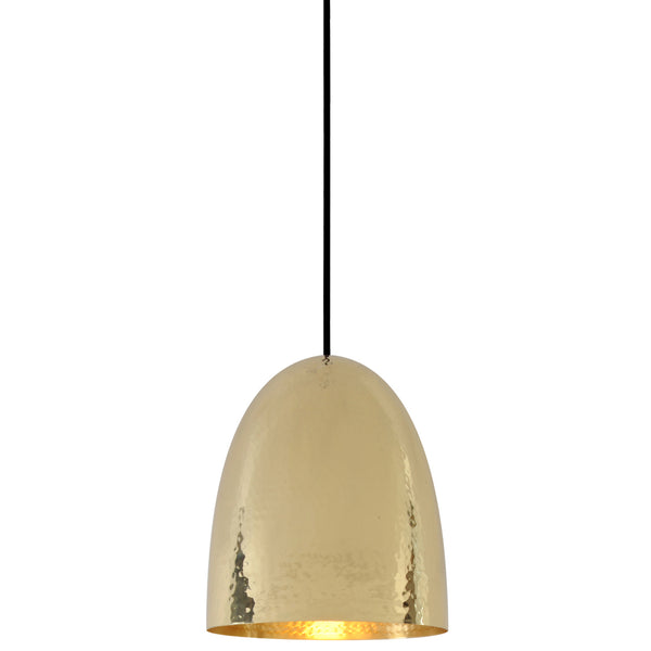 Stanley 2 Brass Pendant - Hammered Finish