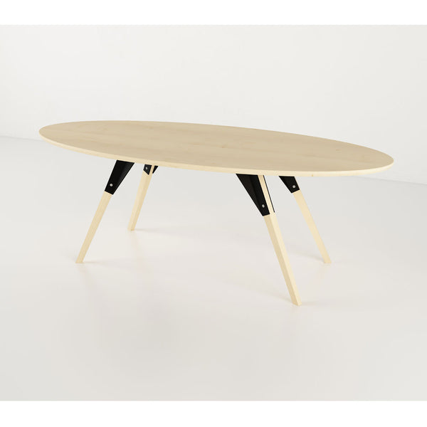 Clarke Thin Oval Coffee Table - Maple