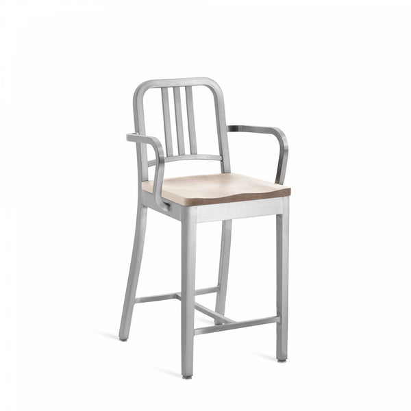 1104 Navy Counter Stool With Arms