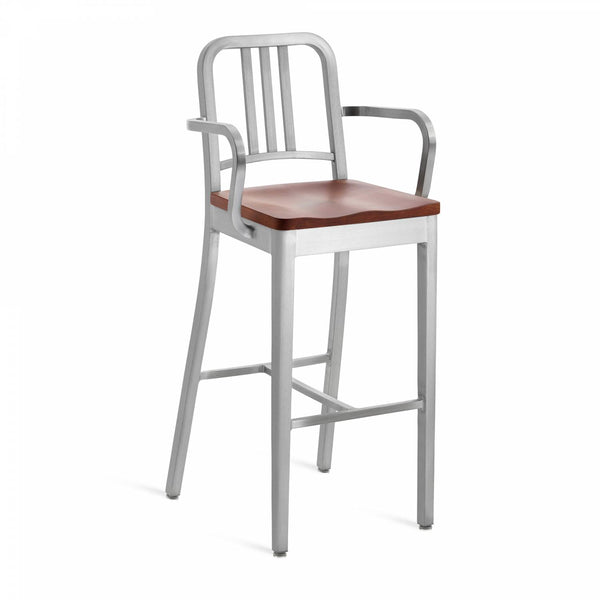 1104 Navy Barstool With Arms