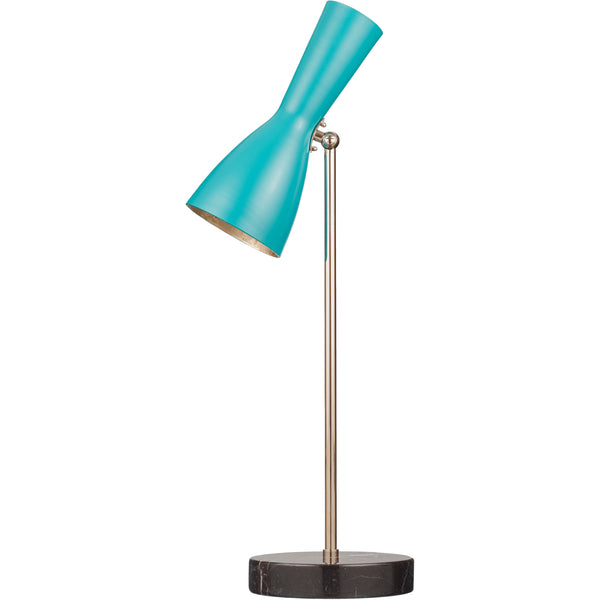 Wormhole Numer 4 - Table Lamp Turquoise/Silver