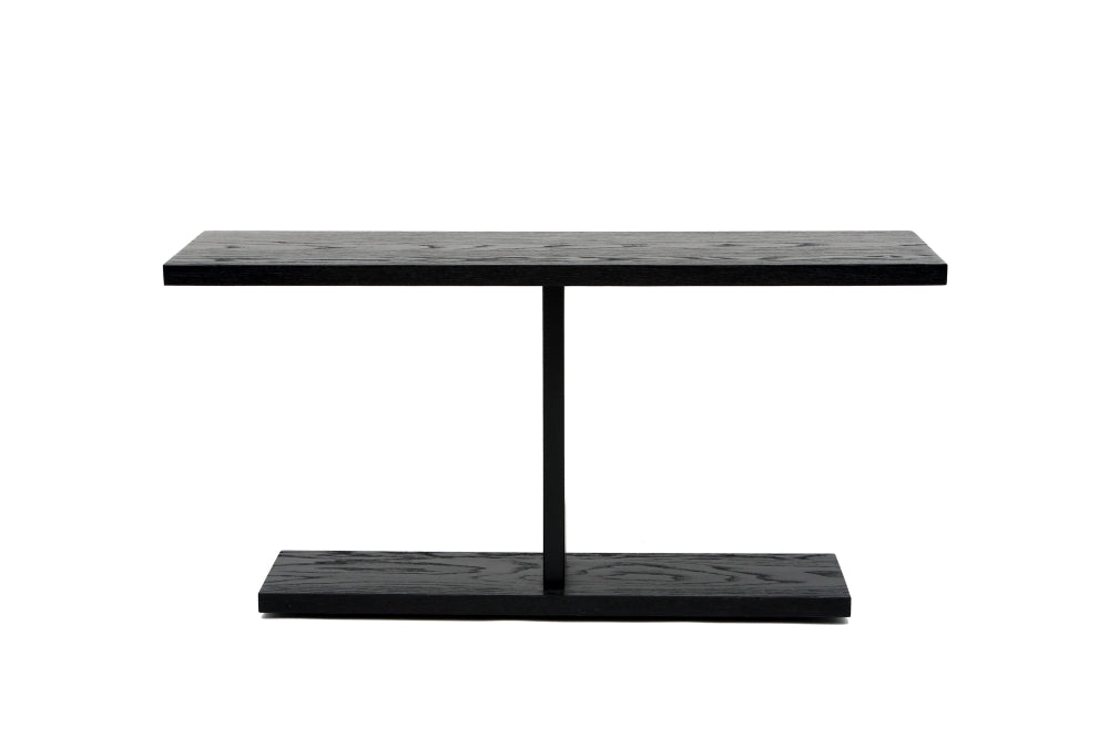 Artless 2020 Console 60W x 18D x 30H Walnut Blackened Steel