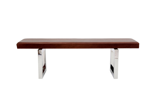 GAX 16 Leather Bench - Stainless Steel
