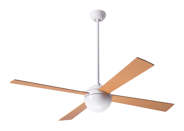 Ball Ceiling Fan - White