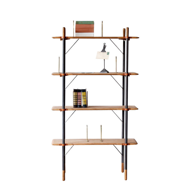 Brandywine Tall Freestanding Oak Shelf
