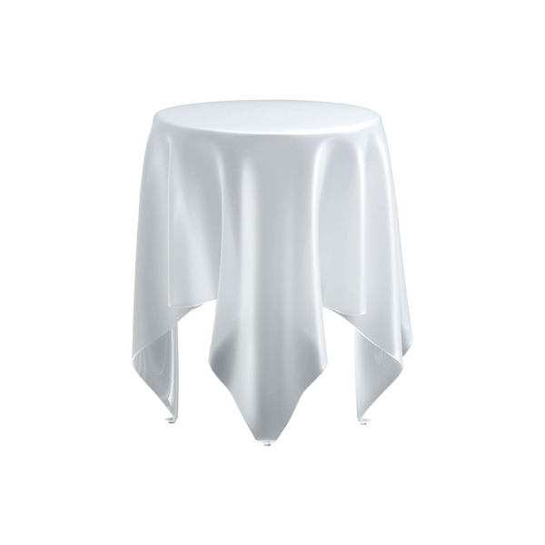 Grand Illusion Side Table - Ice White