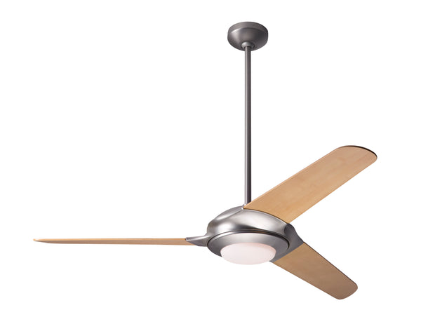 Flow Ceiling Fan With LED Light - Matte Nickel
