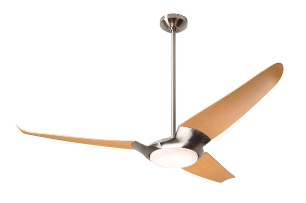 IC/Air Fan 3-Blade With LED Light - Brushed Nickel