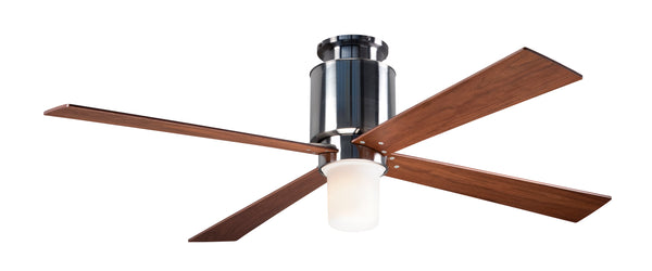 Lapa Flush Ceiling Fan With LED Light - Nickel