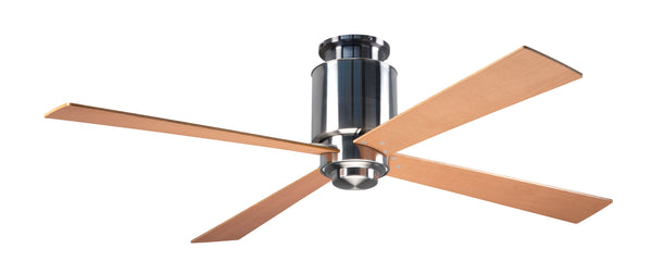 Lapa Flush Ceiling Fan - Nickel