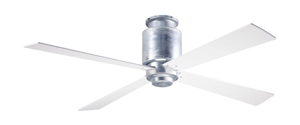 Lapa Flush Ceiling Fan - Galvanized