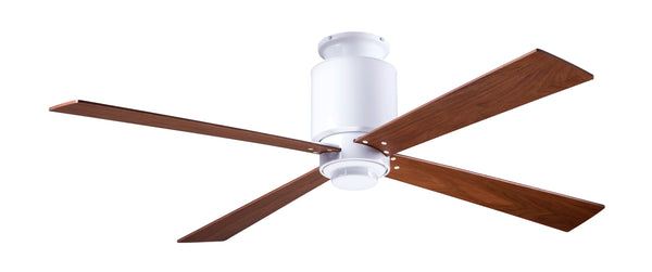 Lapa Flush Ceiling Fan - White