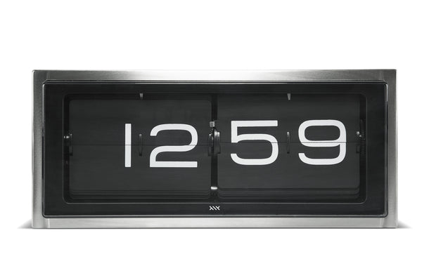 Brick Wall/Desk Clock - Stainless Steel - 24HR