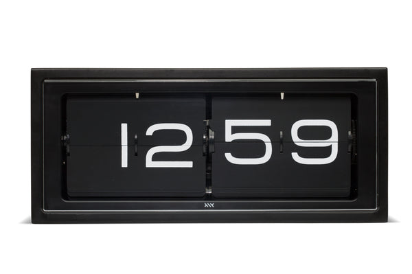 Brick Wall/Desk Clock - Black - 24HR