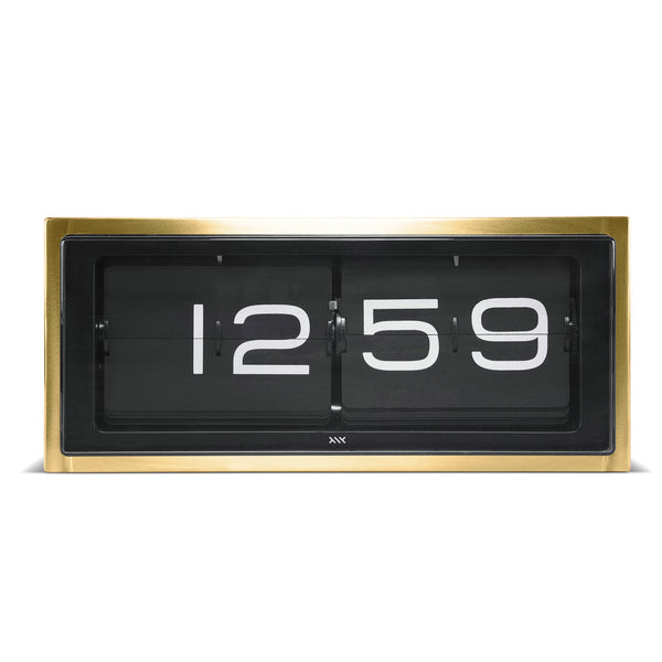 Brick Wall/Desk Clock - Brass - 24HR