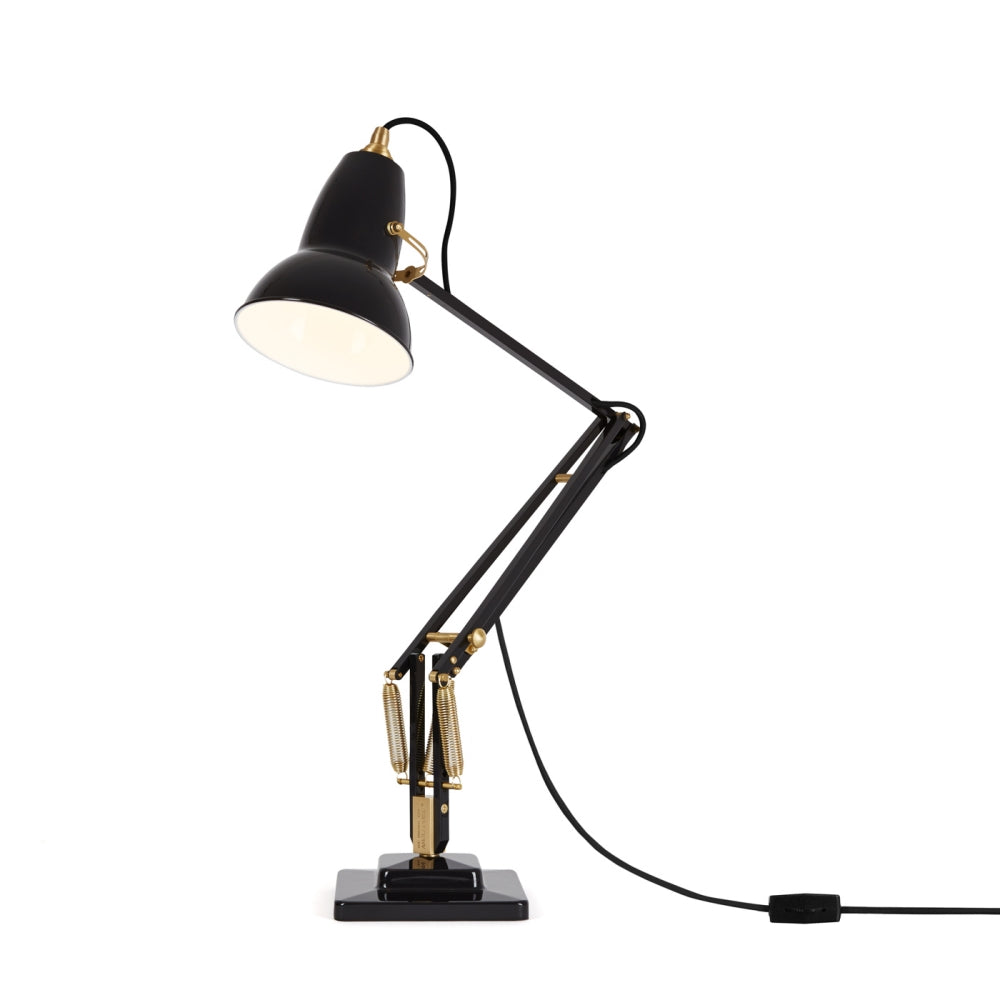 Anglepoise Original 1227 Desk Lamp Brass Jet Black