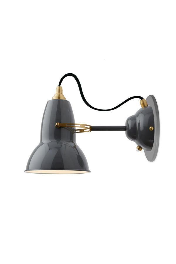 Original 1227 Wall Light - Elephant Grey/Brass