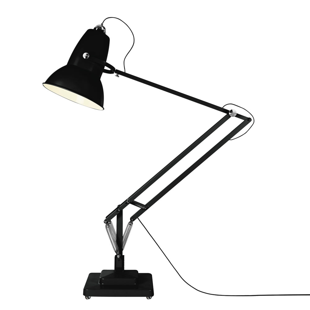 Anglepoise Original 1227 Giant Outdoor Floor Lamp Jet Black Matte Finish