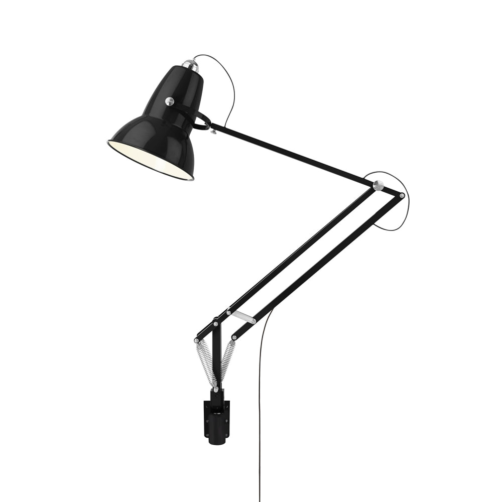 Anglepoise Original 1227 Giant Outdoor Wall Mounted Lamp Jet Black Glossy