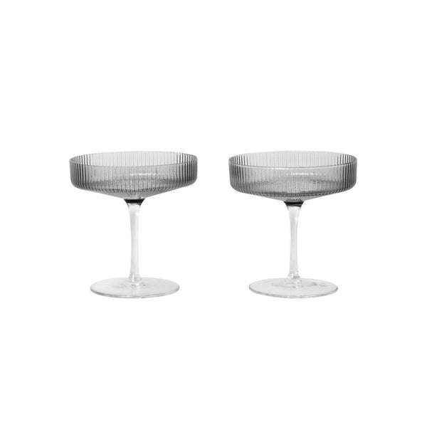 Ripple Champagne Saucer - Set of 2