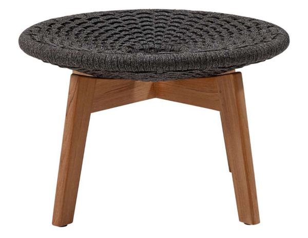 Peacock Footstool With Teak Legs
