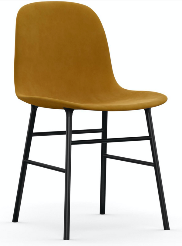 Form Chair Fully Upholstered - Lacquered Steel