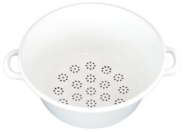 Riess Two-Handled Enamel Sieve