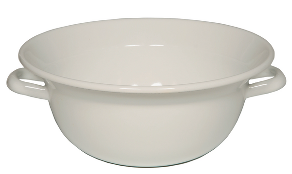Riess Enamel Bowl with Two Handles